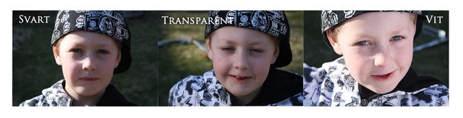 Transparent & Vit Reflexskärm